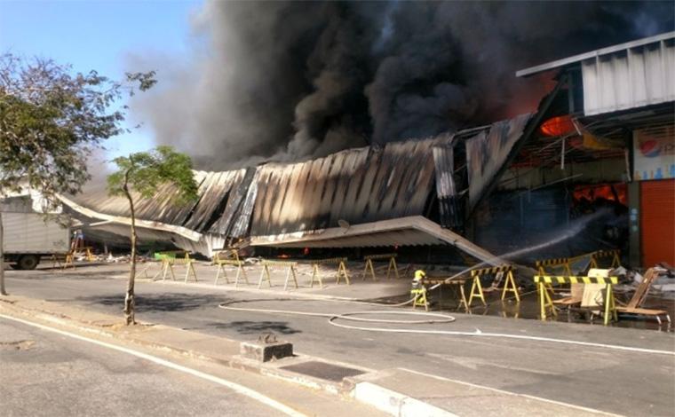 Incêndio atinge pavilhão da Ceasa e causa prejuízos a lojistas