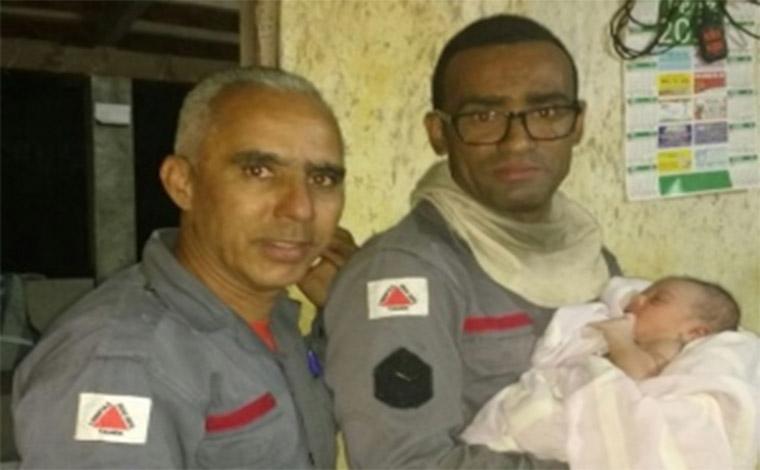 Em combate a incêndio, Bombeiros resgatam bebê abandonado em matagal