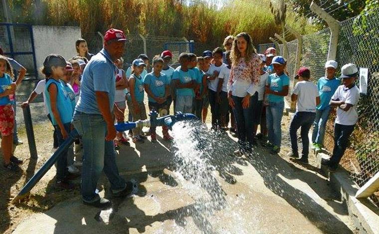 Alunos de escola pública visitam estação elevatória do Saae em Sete Lagoas