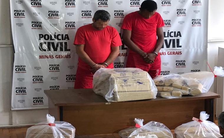 Polícia Civil apreende grande quantidade de maconha e prende traficantes