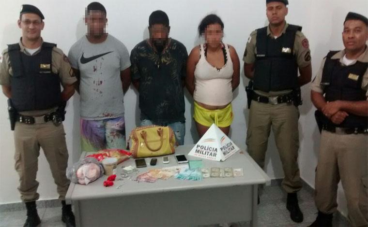 Trio é preso comprando mercadoria com notas falsas em Cordisburgo