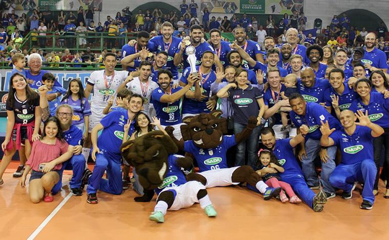 Sada Cruzeiro vence Minas e conquista o Campeonato Mineiro de Vôlei