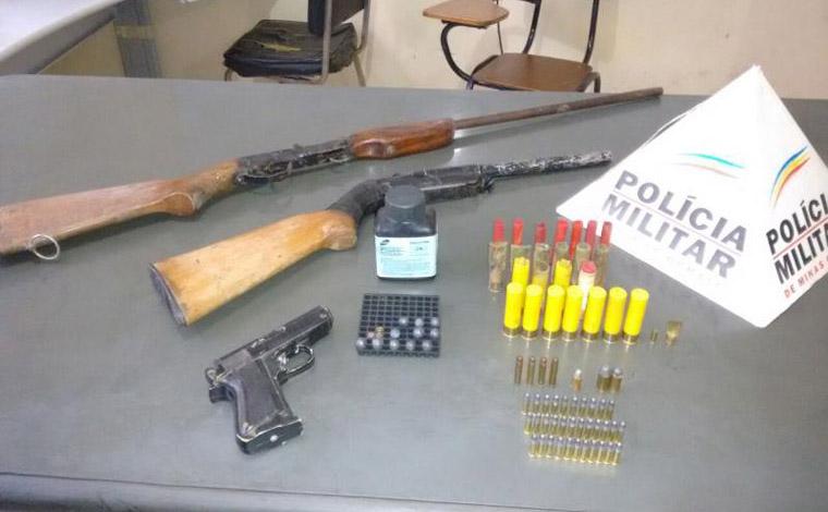 PM prende dois por posse ilegal de munição em Paraopeba