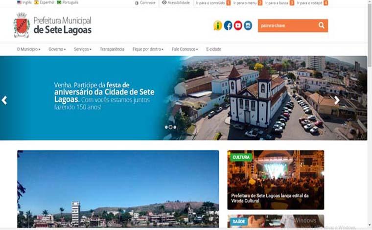 Prefeitura de Sete Lagoas moderniza seu portal na internet