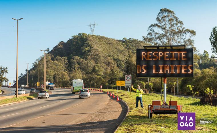 Via 040 estima mais de meio milhão de veículos trafegando durante o feriado
