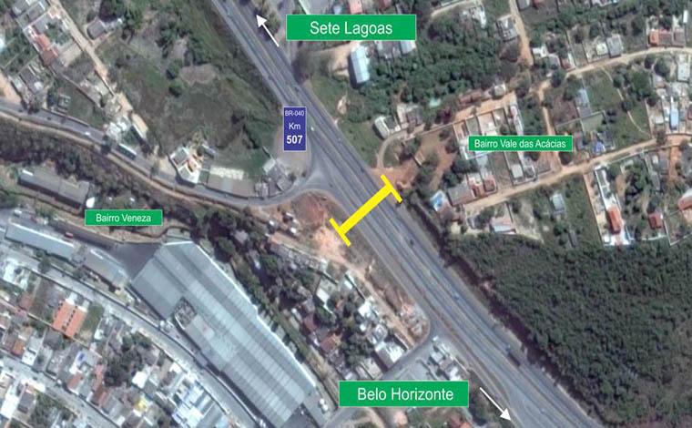 Concessionária anuncia construção de passarela sobre a BR 040 em Neves