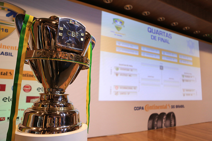 Definidos os confrontos para as quartas de final da Copa do Brasil