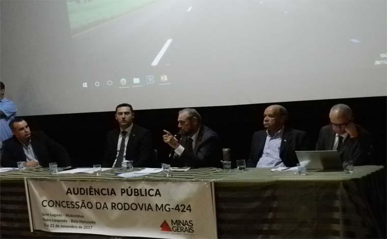 Governo de Minas apresenta os termos da concessão da MG-424