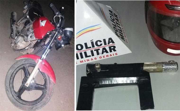 Ladrão é preso e moto roubada é recuperada no Bairro Esperança