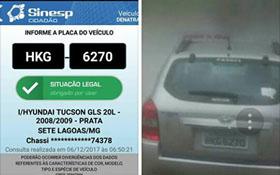 Casal pede ajuda para localizar carro roubado no Vale das Palmeiras