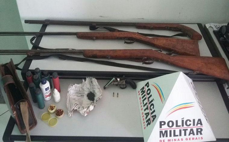 Polícia desmantela fábrica clandestina de armas em Baldim