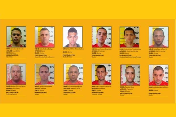 Polícia Civil divulga lista dos criminosos mais procurados de Minas Gerais