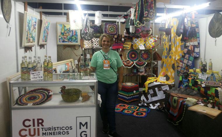Circuito das Grutas levou artesanato e gastronomia da região ao Expominas