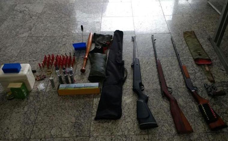 Suspeito de tentativa de homicídio é preso com várias armas em Sete Lagoas