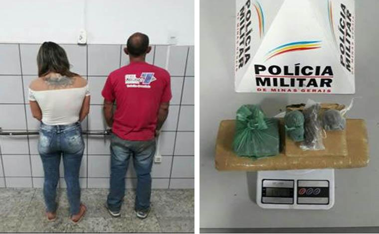 Casal é preso em flagrante por tráfico de drogas no Bairro Progresso