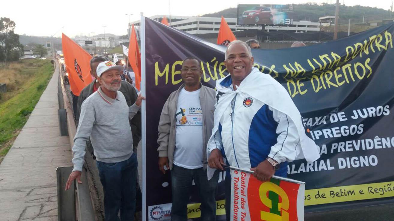 Metalúrgicos fazem paralisação nacional em defesa dos direitos e da aposentadoria