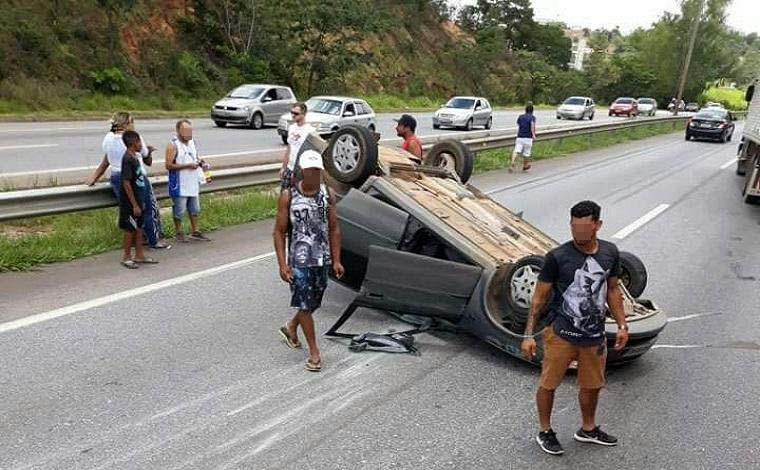 BR 040 registra dois acidentes semelhantes em sequência
