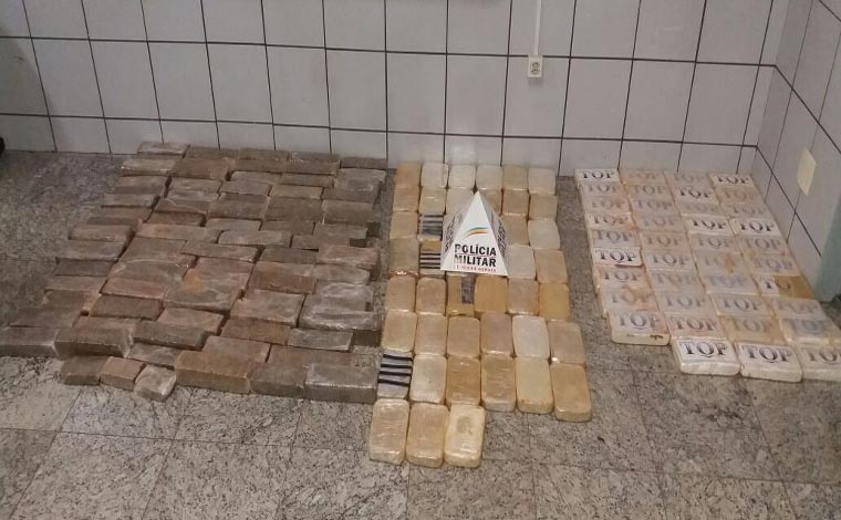 PM apreende grande quantidade de drogas próximo ao Mina D'Água