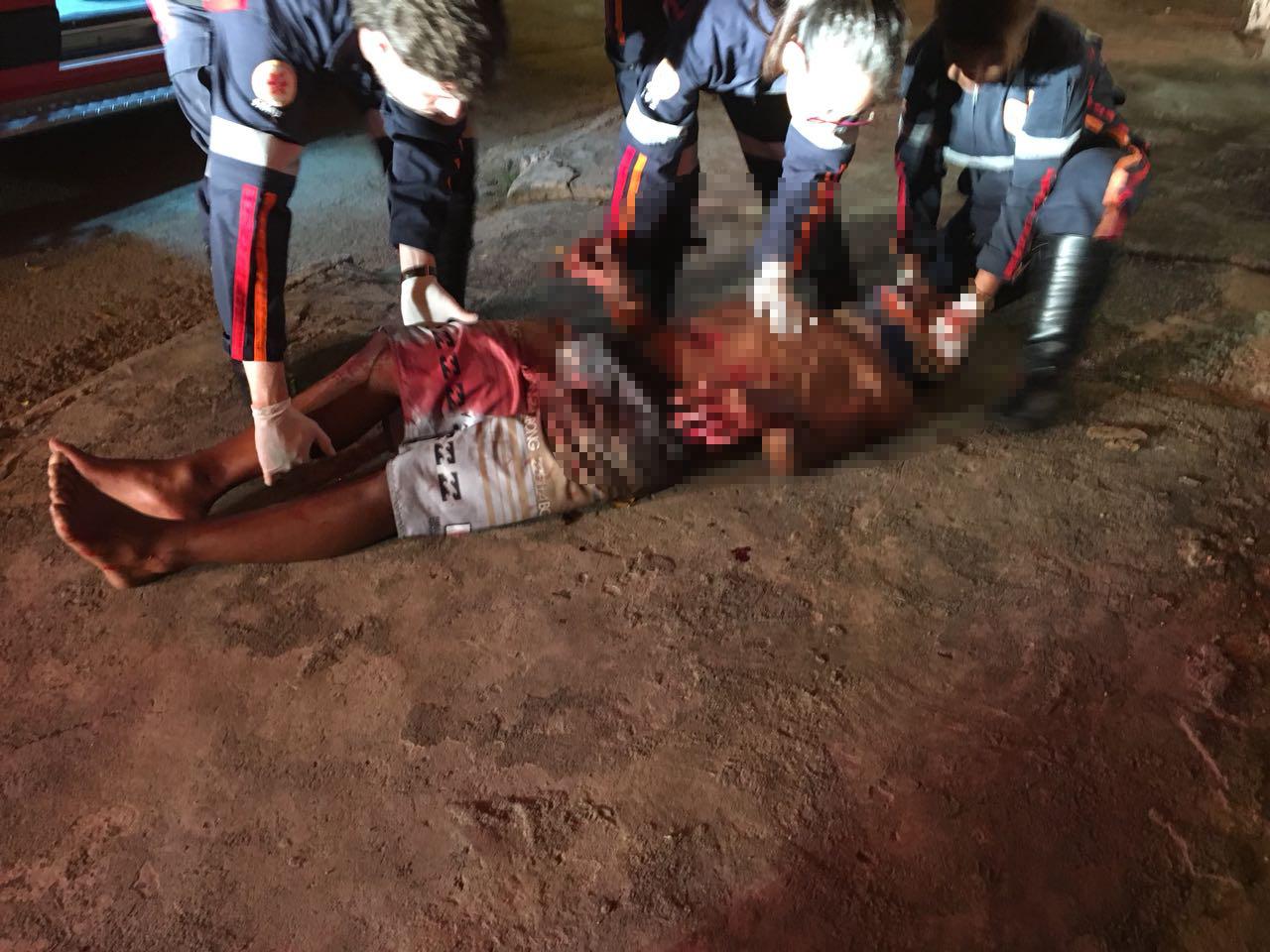 Jovem sofre tentativa de homicídio no Bairro Orozimbo Macedo