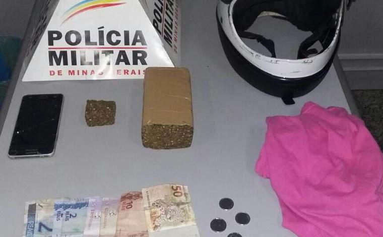 Jovem é apreendido com drogas no Bairro Santa Luzia e admite tráfico