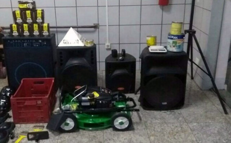Polícia Militar recupera material roubado da Secretaria Municipal de Esportes