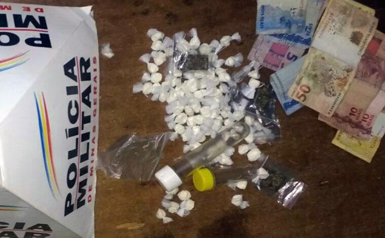Jovem é preso e menor apreendido por tráfico de drogas no Nova Cidade