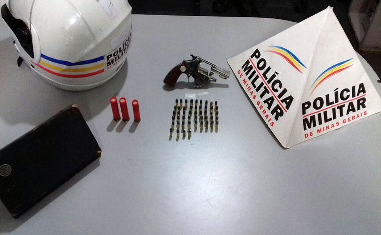 Homem é preso no Bairro Industrial  por posse ilegal de arma de fogo