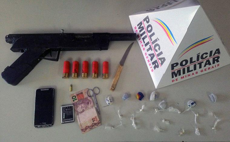 Menores são apreendidos com drogas e arma artesanal em Prudente de Morais