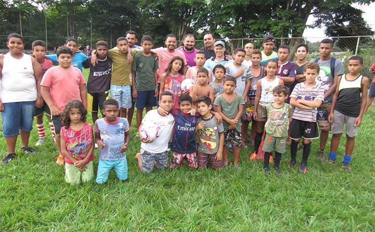 Escolinha de Futebol da Fazenda Velha já está funcionando e ainda tem inscrições abertas