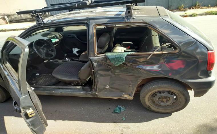 Acidente entre carro e moto deixa uma pessoa ferida no Bairro Progresso