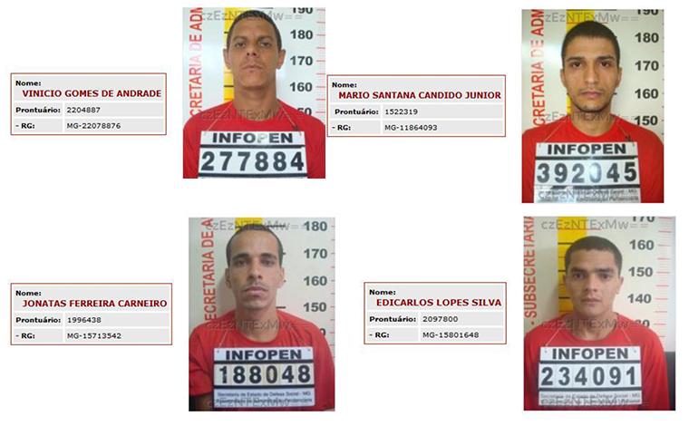 Foto: Divulgação - Presos que cumpriam pena conseguiram escapar pulando o muro da penitenciária de segurança máxima de Contagem e ainda não foram recapturados