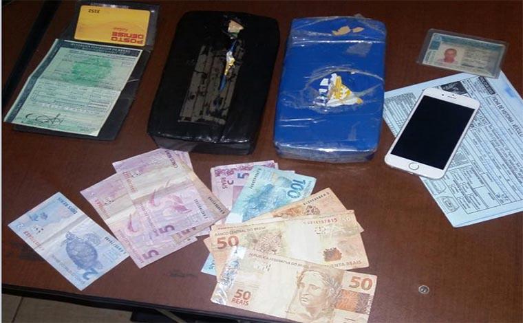 Homem com passagem por tráfico e lavagem de dinheiro é detido no CDI II