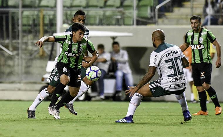 América perde para o Palmeiras em casa e sai em desvantagem na Copa do Brasil