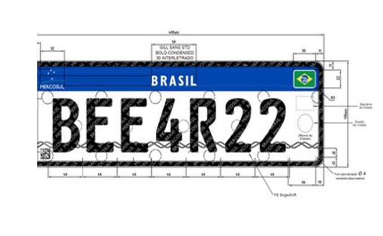 Padrão Mercosul será implantado nas placas de veículos até dezembro