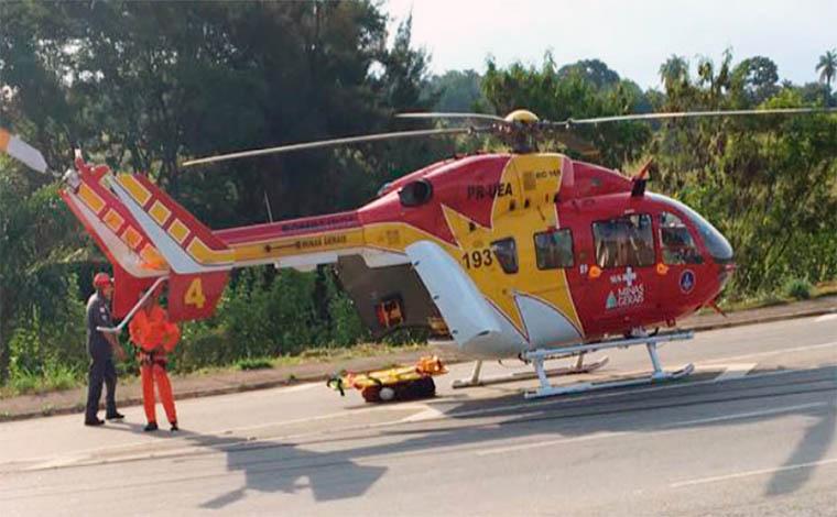 Acidente deixa três pessoas gravemente feridas na LMG 800