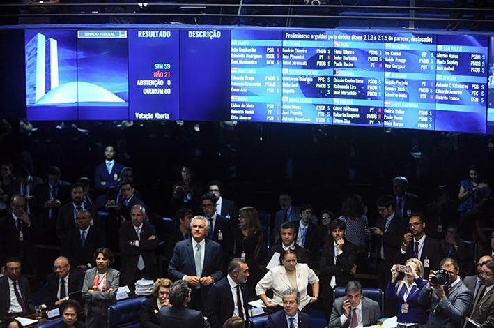 Senado decide e Dilma vai a julgamento em plenário