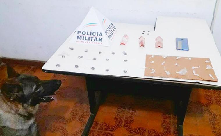 Polícia Militar prende autor de tráfico de drogas e apreende substâncias ilícitas