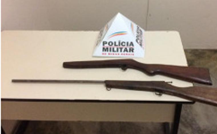 Polícia Militar prende autor por tráfico de drogas e apreende nota falsa e espingarda