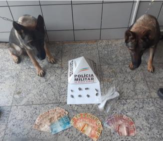 PM prende dois suspeitos por tráfico de drogas e apreende uma arma de fogo em Paraopeba