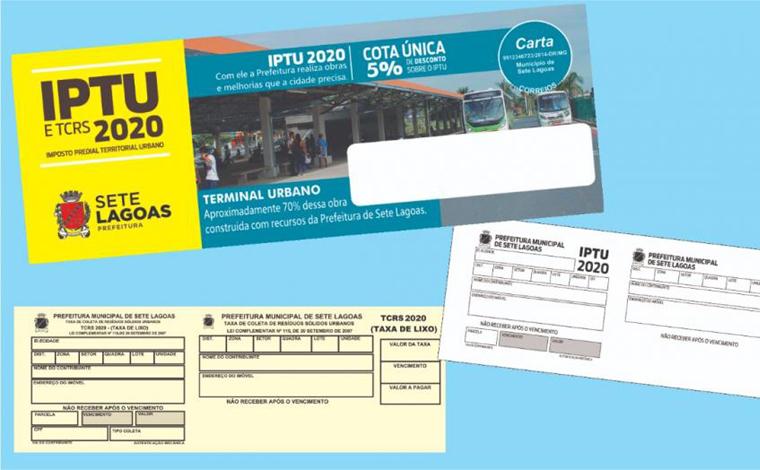 Com desconto de 5%, primeira parcela do IPTU vence nesta segunda-feira (8) em Sete Lagoas