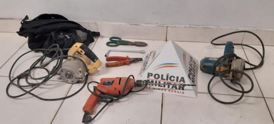 Polícia Militar recupera materiais roubados nos bairros do Carmo e Nossa Senhora das Graças