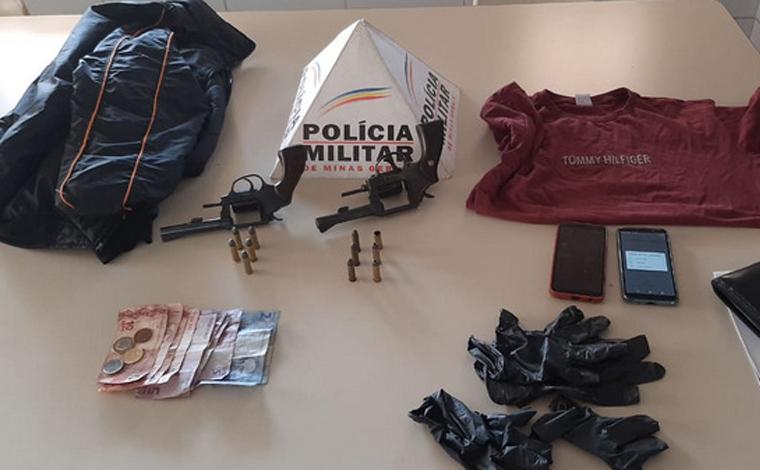 Dois homens são presos por roubo a supermercado e casa lotérica em Caetanópolis