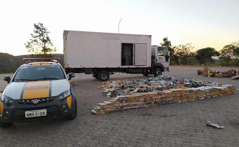 Duas toneladas de maconha são apreendidas em Diamantina