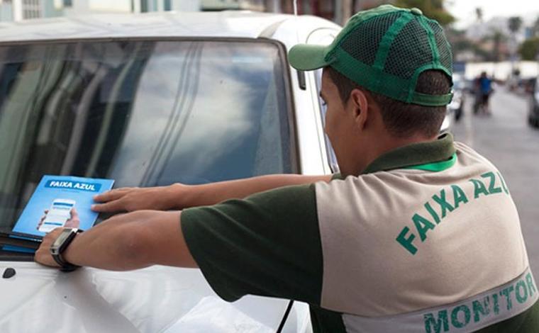 Foto: Divulgação/Ascom PSL - Os usuários têm à disposição duas maneiras diferentes para usar o Faixa Azul: aplicativo Blue Park e talão impresso. Com o aplicativo, o motorista pode comprar e ativar seu tempo de estacionamento