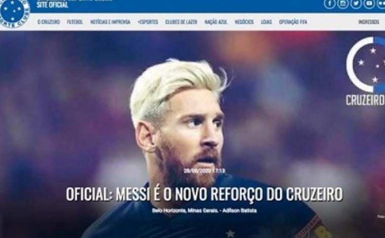 Hackers invadem site do Cruzeiro e anunciam contratação de Messi
