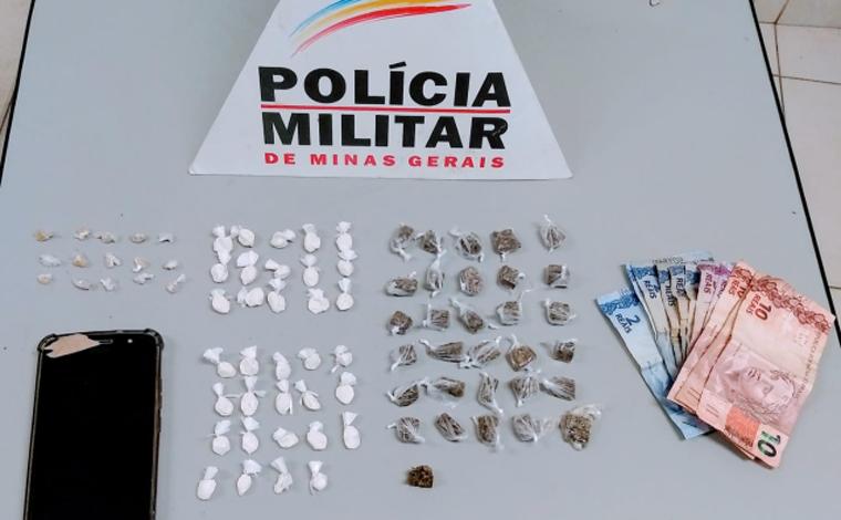 Homem é preso por agredir vítima a pauladas e por tráfico de drogas no bairro Orozimbo Macedo