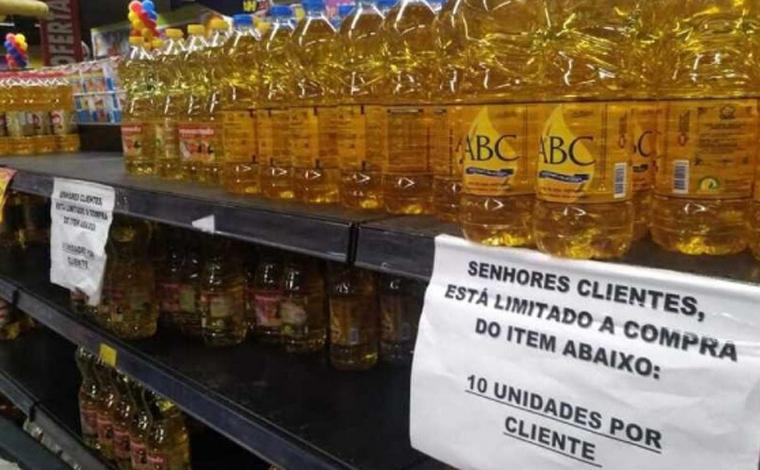 Supermercados começam a limitar compra de arroz e óleo de soja por cliente em Belo Horizonte