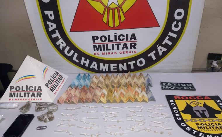 PM prende dois homens e apreende grande quantidade de drogas em Pedro Leopoldo