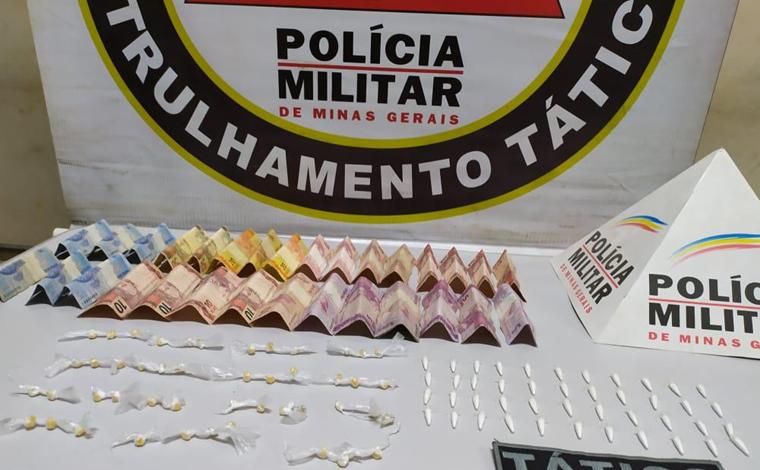 Jovem é preso por tráfico de drogas no bairro Santo Antônio em Pedro Leopoldo