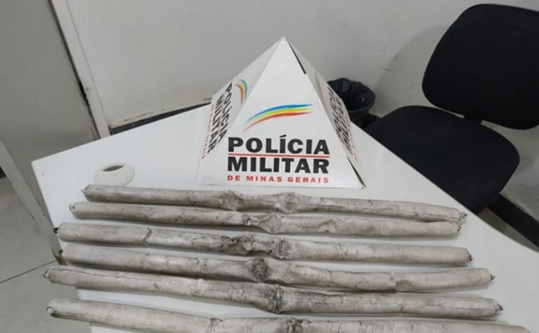 Homem foge de abordagem policial, mas deixa seis bananas de dinamite em rodovia de Minas Gerais